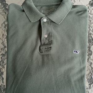 Vineyard Vines Army Green Men's Polo Shirt